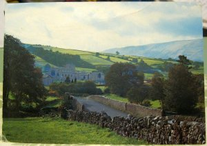 England Looking towards Dent Village from Church Bridge - posted 1979