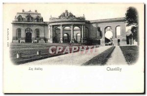Old Postcard Chantilly Chateau Les stables