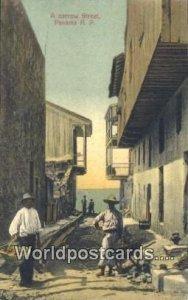Narrow Street Panama Panama Unused