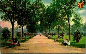 Vtg Postcard Chicago Illinois Lincoln Park Pathway Unused