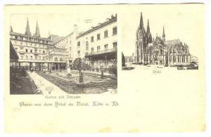 Gruss aus dem Hotel du Nord, Cöln (North Rhine-Westphalia), Germany, 1890s; ...