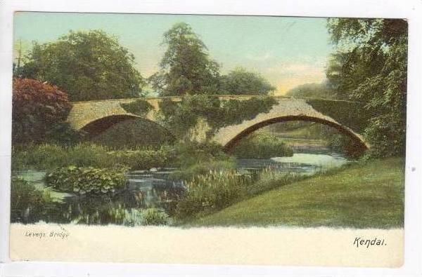 Levens Bridge over Creek,Kendal,  UK 1900-10s