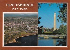 New York Plattsburg Aerial View