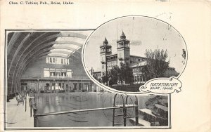 H9/ Boise Idaho Postcard 1908 Tobias Natatorium Interior 2View