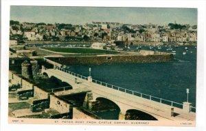 GUERNSEY, 1900-1910's; St. Peter Port From Castle Cornet