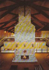 Lobby and Amethyst Fireplace, Alpine Motor Hotel, Thunder Bay, Ontario, Canad...