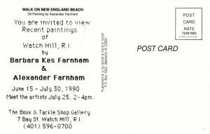 RI - Watch Hill. Walk on New England Beach, Artist: Alexander Farnham (Rhod...