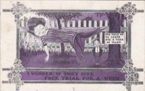 Humour Girl In Hammock I Wonder If They Give Free Trial For A Week 1913