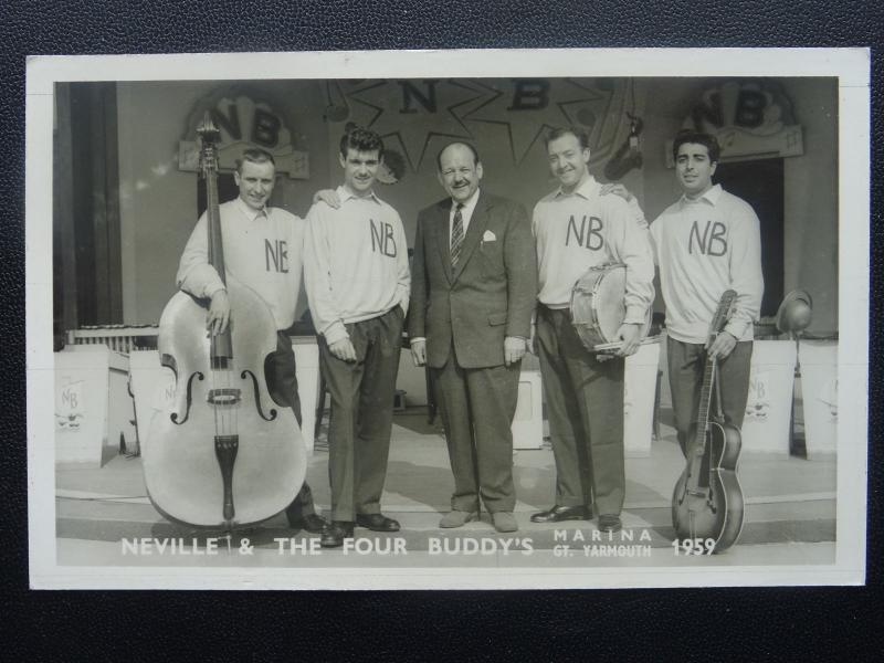 MUSIQUE Marina BONNE Yarmouth Neville Bishop & THE FOUR Buddys C1959 CARTE