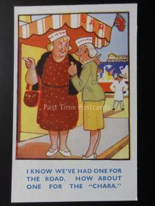 Seaside Bar Theme TWO WOMEN - ONE FOR THE ROAD Old Comic PC by W. Foster No.45