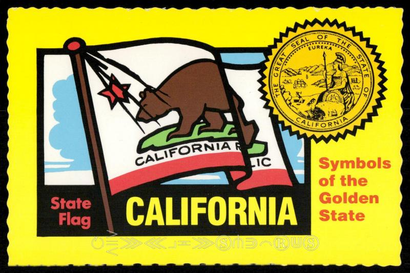California - State Flag and The Great Seal