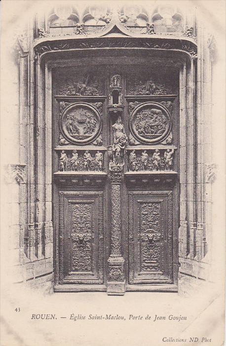 Rouen, Eglise Saint-Marlou, Porte de Jean Goujon, Seine Maritime, France, 00-10s