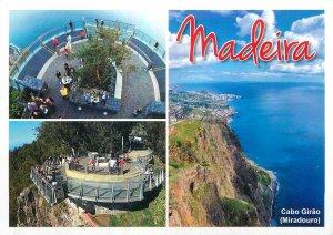 Postcard Portugal Madeira multi view cabo girao miradouro sea-side village