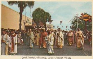 TARPON SPRINGS, Florida, 1940-60s; Greek Epiphany Ceremony on Way to Spring B...