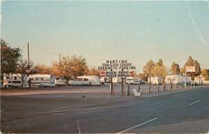 Deming NM~Martin's Trailer Park & Supplies on West Pine~Rock Shop 1971 Postcard