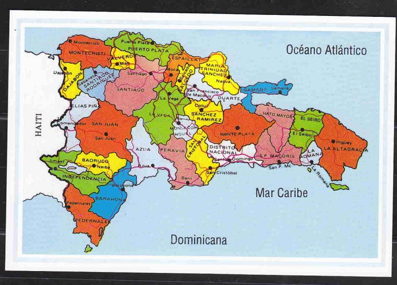 REPUBLICA DOMINICANA POSTAL CARDS NEW, MAP, VIEWS AAC1677