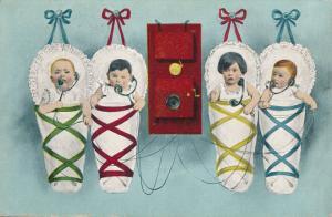 Multiple Babies talking on Telephone B.K.W.I. - RPO 1908 Butte & Salt Lake City
