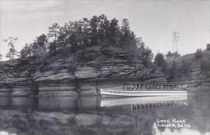 Wisconsin Dells Lone Rock Real Photo RPPC