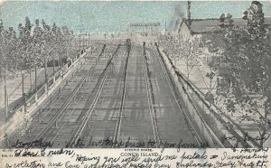 Steeple Chase, Coney Island, Brooklyn, New York, Early Postcard, Used in 1906