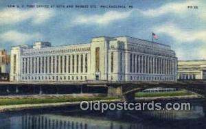Philadelphia, PA USA,  Post Office Postcard, Postoffice Post Card Old Vintage...