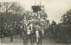 France~Castle Parade~Horsemen~Ace of Clubs~Societe des Produits~1910 RPPC