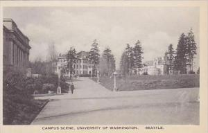 Washington Seattle Campus Scene University of Washington Albertype