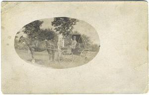 Bradford NH RFD Mail Wagon Horse Wyman Mail Carrier Real Photo RPPC Postcard