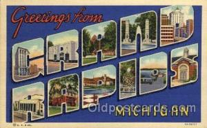 Grand Rapids, Michigan Large Letter Town Towns Post Cards Postcards  Grand Ra...