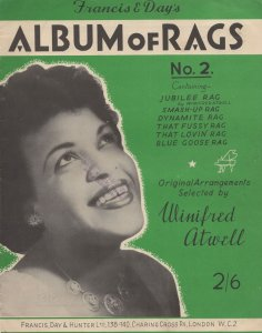 Winifred Atwell Album Of Rags Sheet Music Book