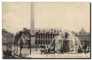Old Postcard Paris VIII the Place de la Concorde