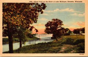 Wisconsin Kenosha Alford Park On The Shore Of Lake Michigan 1945 Curteich