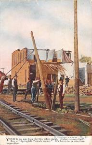 Kanawha Iowa~A.L. Severin Agent~Springfield Tornado Anchor~Damage Scene~1912 Adv