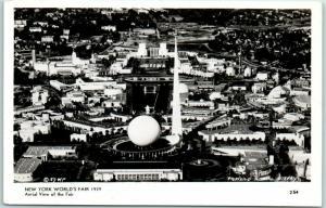 1939 New York World's Fair RPPC Official Postcard Aerial View of the Fair