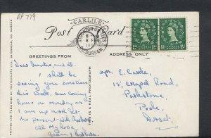 Family History Postcard- Cattle - 15 Chapel Road, Parkstone, Poole, Dorset RF779
