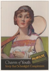 Palmolive Soap Ladies Tennis Player Advertising Postcard