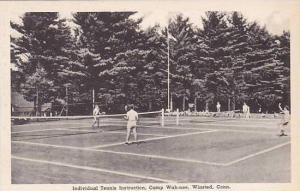 Connecticut Winsted Individual Tennis Instruction Camp Wah-nee Albertype