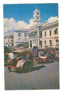 Malayan Railway Building, Chinese Trishaws- Popular Transport, Penang, Malays...