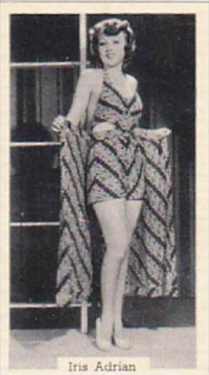 Murray Sons Cigarette Card Bathing Belles No 29 Iris Adrian