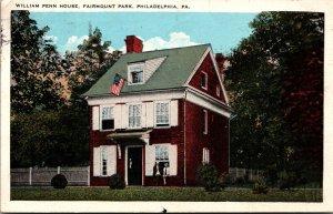 Pennsylvania Philadelphia Fairmount Park William Penn House 1928