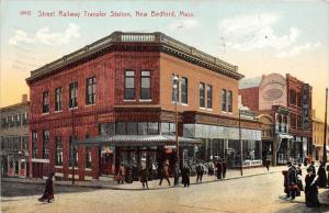 Massachusetts New Bedford  Street  Railway Trolley  Transfer Station