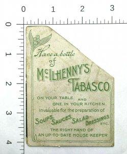 RARE - McIHENNY'S TABASCO SAUCE - METAMORPHIC - VICTORIAN TRADE CARD