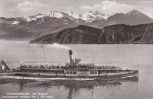 Switzerland Vierwaldstaettersee Salondampfer Willhelm Tell un Die Alpen Photo