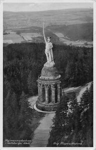 Hermannsdenkmal Teutoburger Wald Statue Monument Aerial view