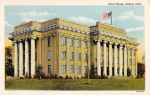 Celina Ohio Court House Street View Antique Postcard K41417