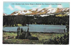 WY Medicine Bow National Forest Brooklyn Lake Snowy Range
