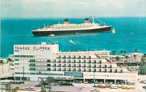 Sheraton Yankee Clipper hotel fort Lauderdale S. S. France ship 1974 postcard