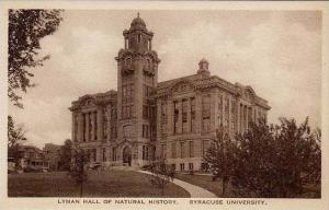 New York Syracuse University Lyman Hall Of Natural History  Artvue