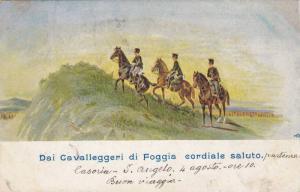 Dai Cavalleggeri di Foggia cordiale saluto , Italy , PU-1898
