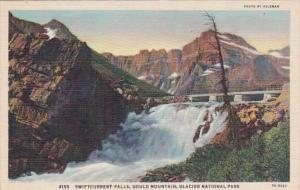 Glacier National Park Swiftcurrent Falls Gould Mountain Curteich