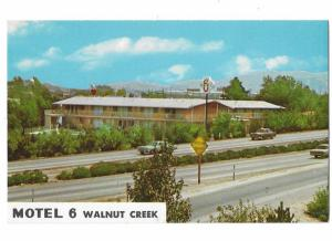 Motel 6 Main Street & Freeway Walnut California 1950s & 60s Cars